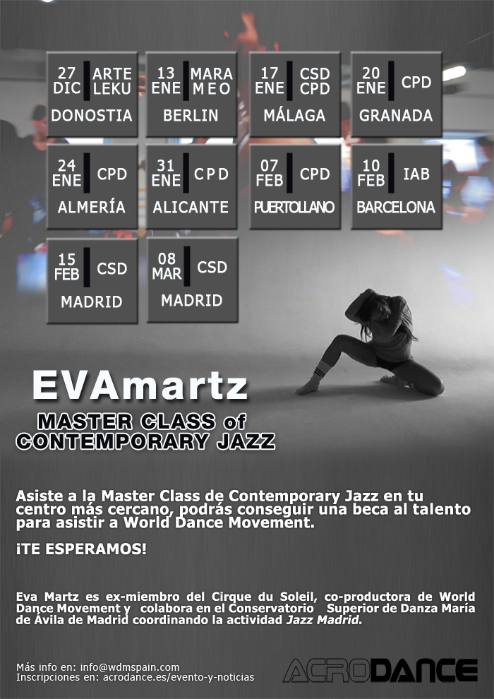 Calendario Audiciones World Dance Movement